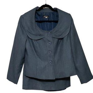 Giorgio Sant' Angelo Blue Suit and Skirt Set